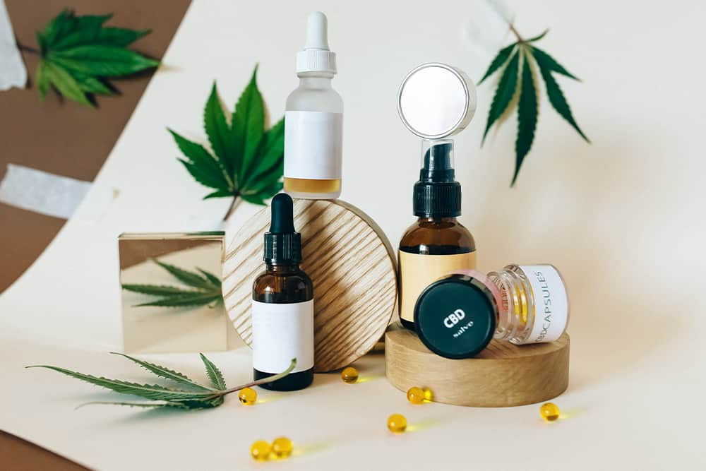 A variety of white label and private label CBD products.