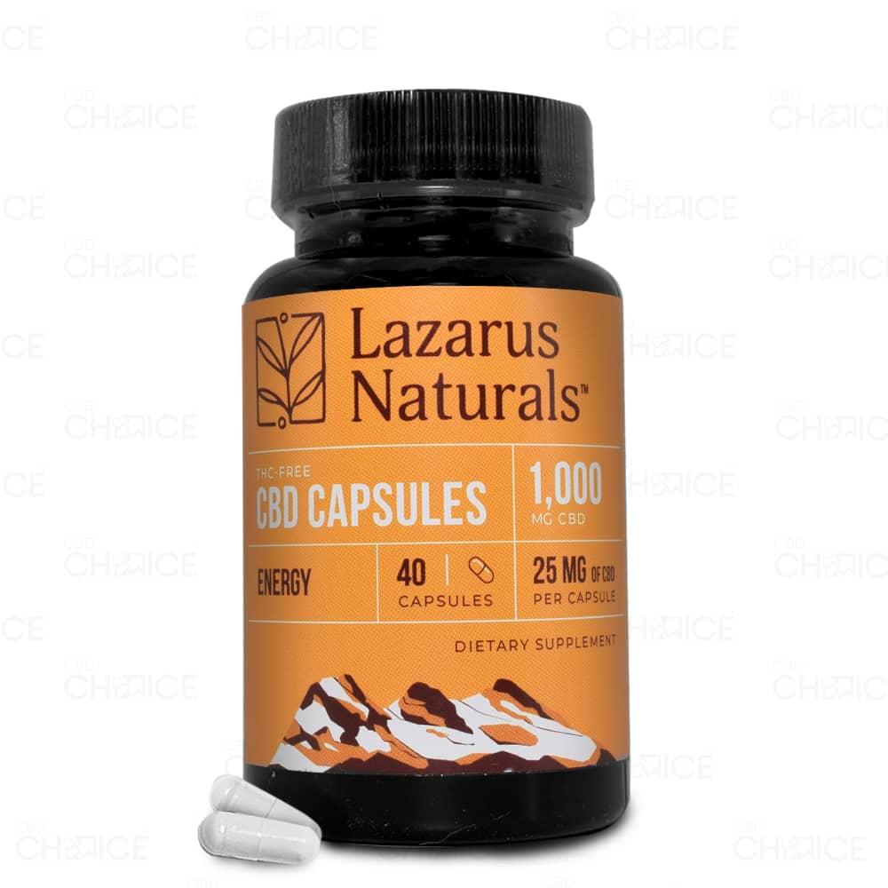 Lazarus Naturals Energy CBD Capsules, 40 count