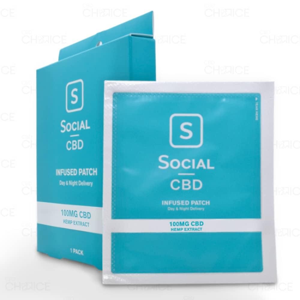 Social CBD Topical Patch, 100mg