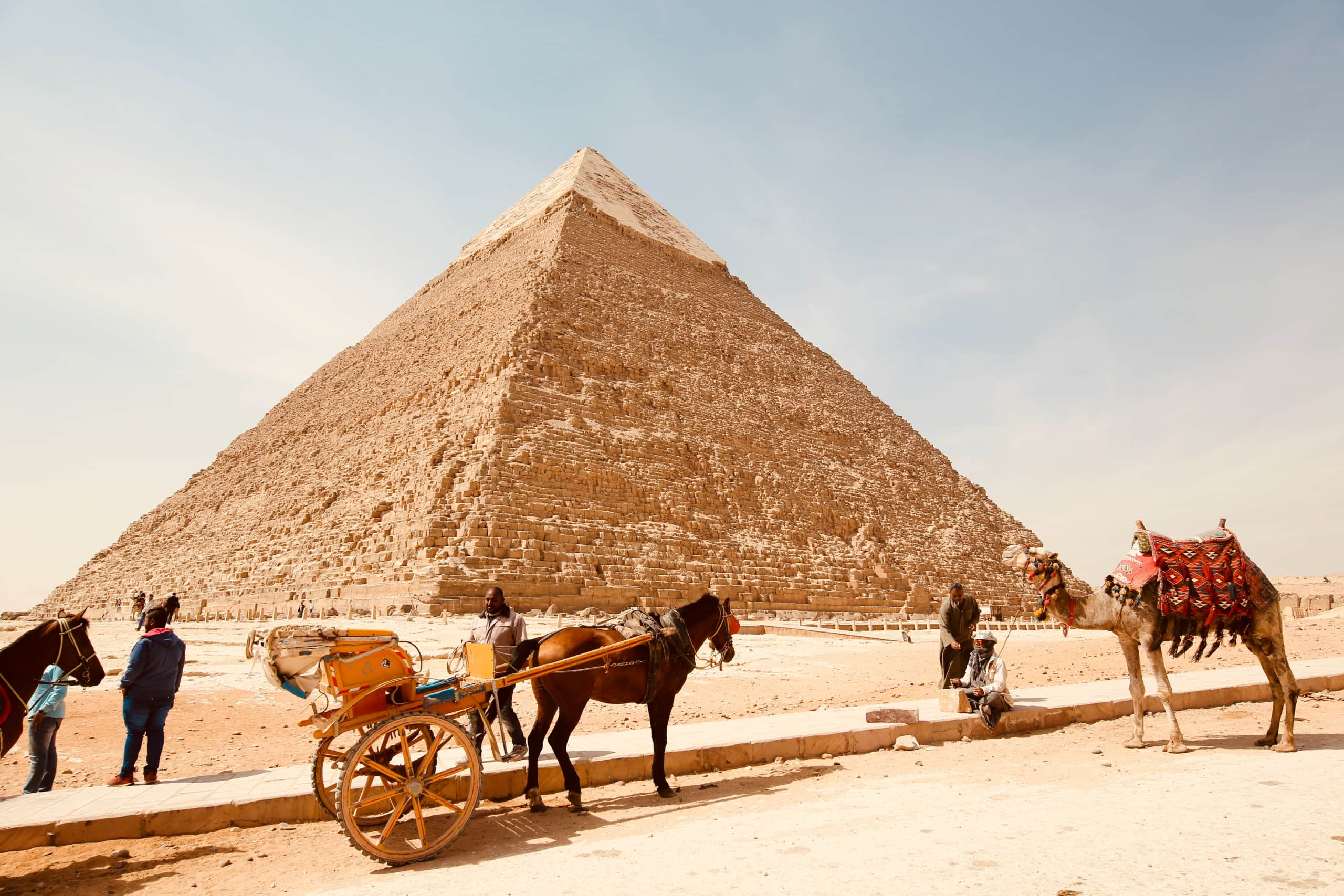 Egyptian pyramids: because Egypt is at the center of a lot of cannabis history.