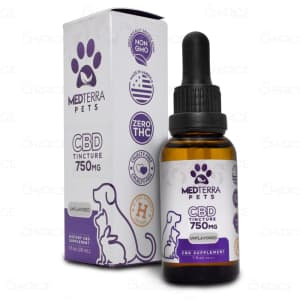 Medterra Unflavored CBD Oil Pet Tincture, 750mg