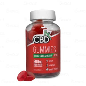 CBDfx Detox Gummies with Apple Cider Vinegar, 60 count