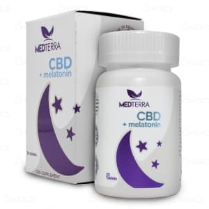 Medterra CBD Melatonin Tablets, 25mg, bottle