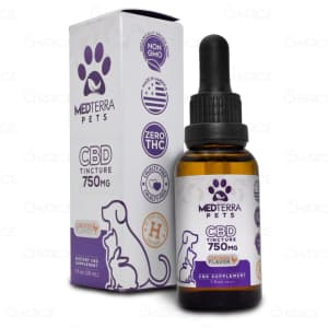 Medterra Chicken CBD Oil Pet Tincture, 750mg, bottle