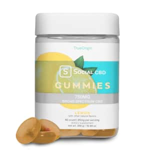 Social CBD Lemon Gummies, 60 count