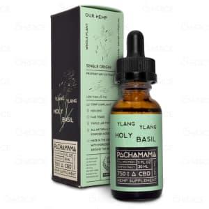 Pachamama Ylang Ylang Holy Basil Oil Tincture, 750mg