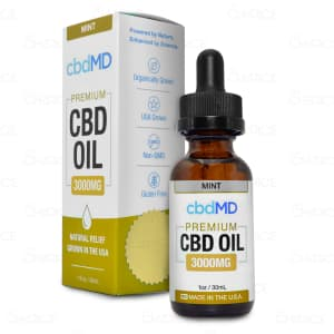 cbdMD Mint Tincture, 3000mg