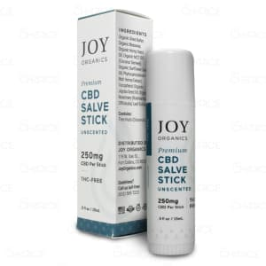 Joy Organics Unscented CBD Salve Stick, 250mg