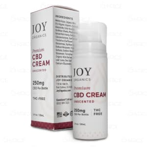Joy Organics Unscented CBD Cream, 250mg