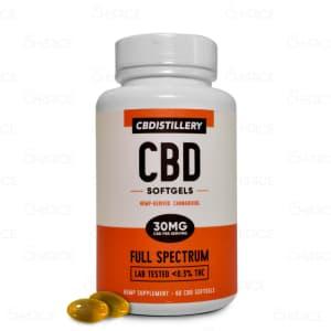 CBDistillery Full Spectrum CBD Softgels 60 count