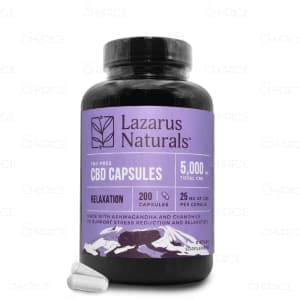 Lazarus Naturals Relaxation CBD Capsules, 200 count