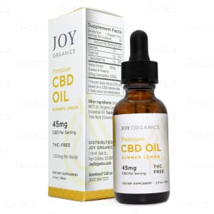 Joy Organics Summer Lemon Tincture with 1350mg total CBD