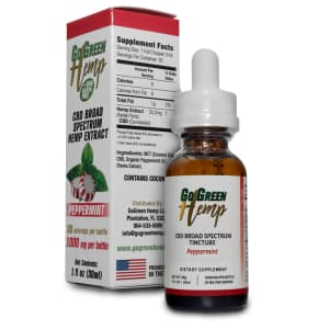 GoGreen Hemp Peppermint Oil, 1000mg
