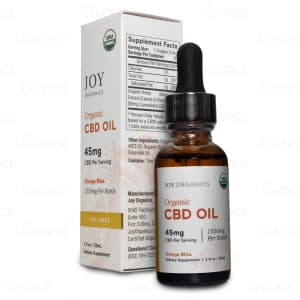Joy Orange Bliss Premium Hemp Oil, 1350mg