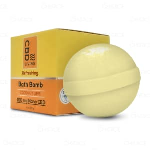 CBD Living Coconut Lime Bath Bomb