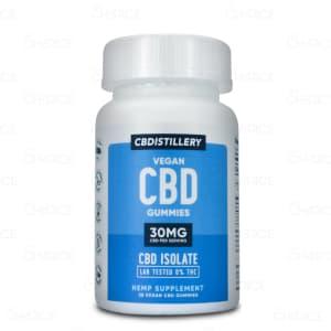 CBDistillery Vegan CBD Isolate Gummies, 30 count