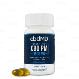 cbdMD Sleep Aid Softgels, 1500mg