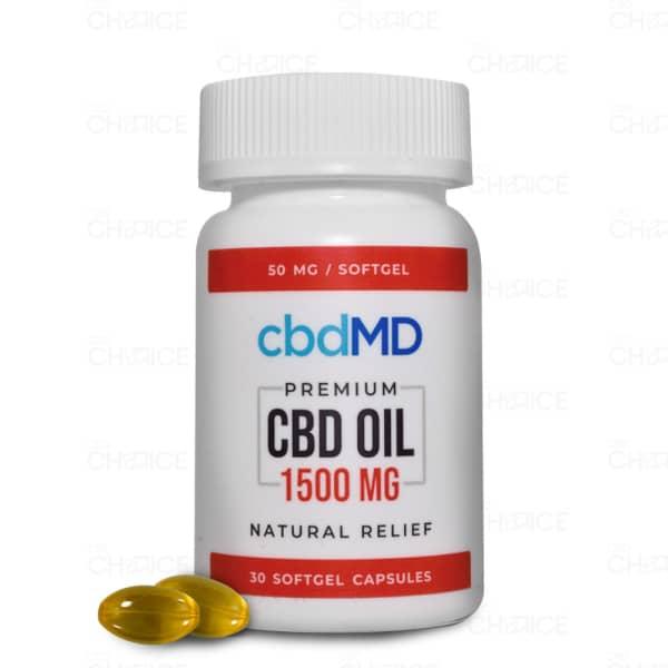 cbdMD CBD Capsules, 1500mg