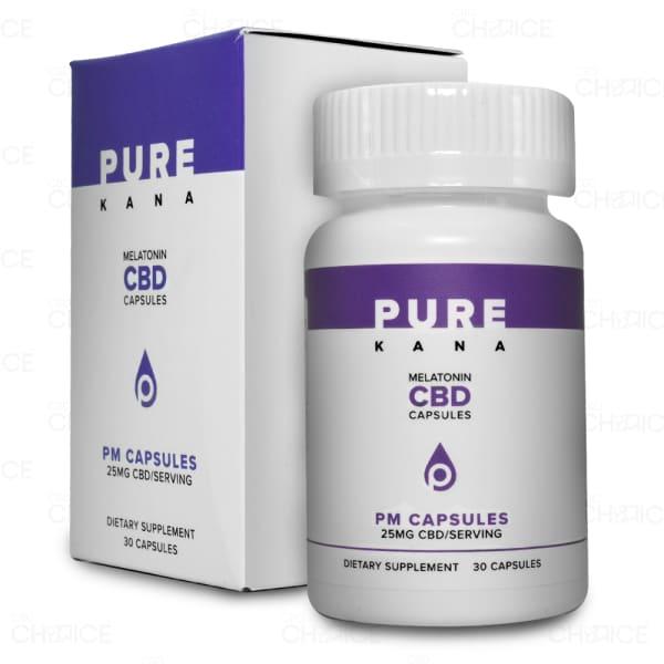 PureKana PM CBD Capsules with Melatonin, 30 count