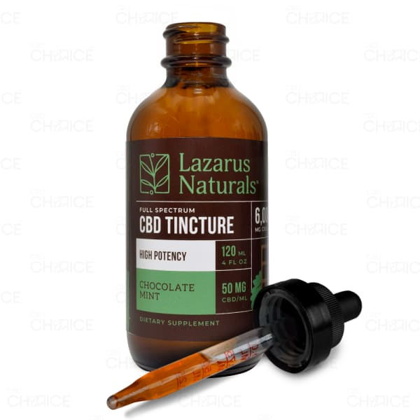 Lazarus Naturals Chocolate Mint CBD Oil Tincture, 120ml