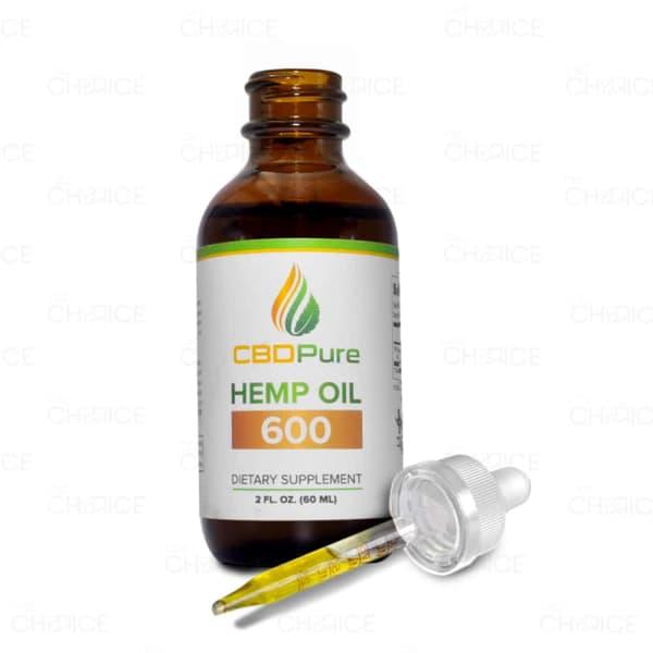 CBD Pure Hemp Oil, 600mg