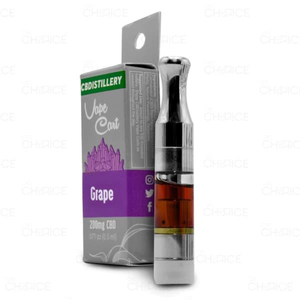 CBDistillery Grape Vape Cartridge, 200mg