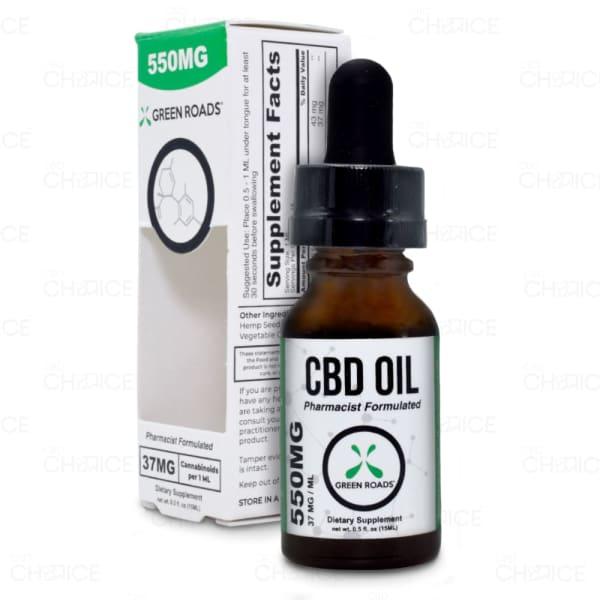 Green Roads THC Free Oil. 550mg