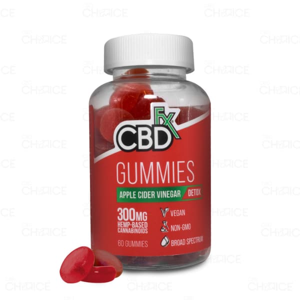 CBDfx Detox Gummies with Apple Cider Vinegar, 60 count