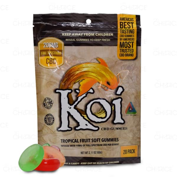 Koi Tropical Fruit Gummies, 200mg