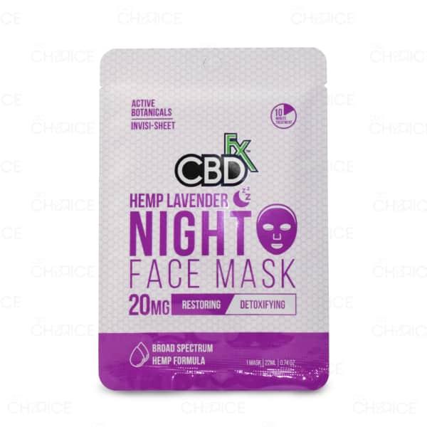 CBDFx Face Mask, Hemp Lavender