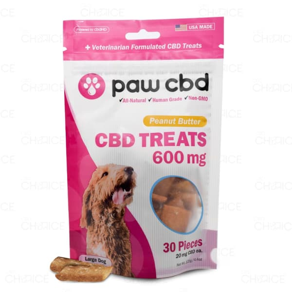 Paw CBD Peanut Butter Dog Treats, 600mg