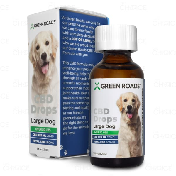 Green Roads CBD Drops for Large Dogs