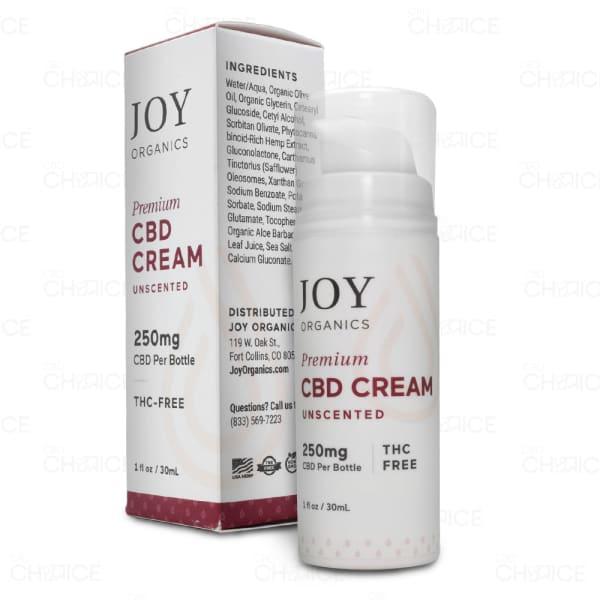 Joy Organics Unscented CBD Cream, 250mg