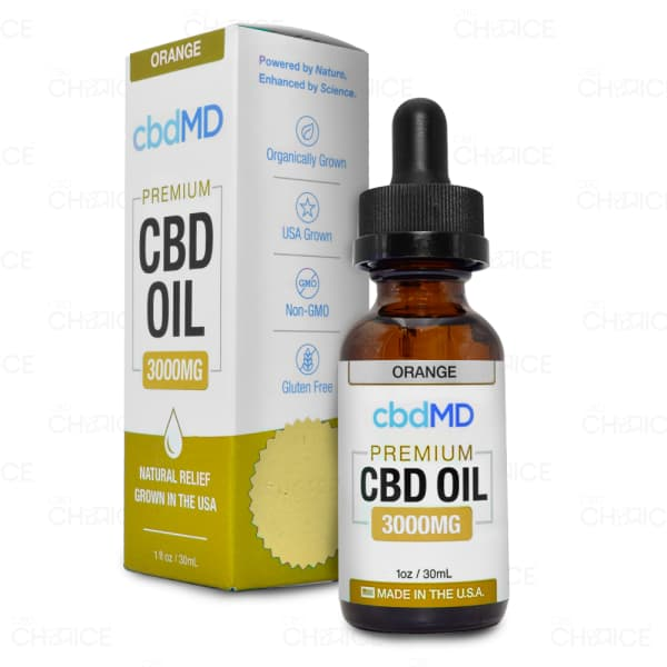 cbdMD Orange Tincture, 3000mg