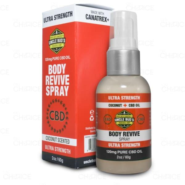 Uncle Bud's CBD Body Revive Spray, 120mg