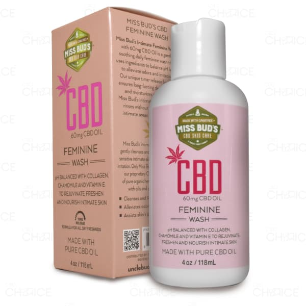 Miss Buds CBD Feminine Wash, 4oz