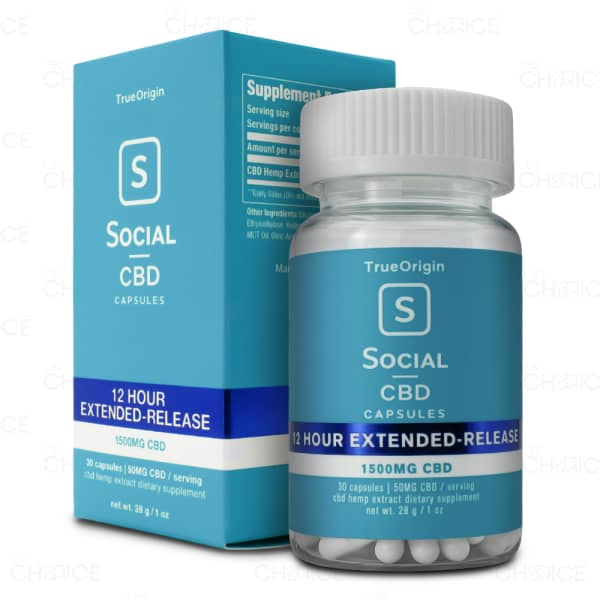 Social CBD Extended Release Capsules 30 count