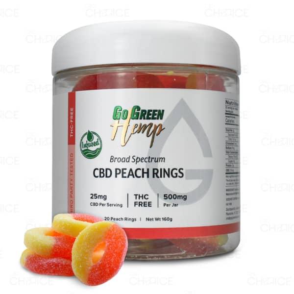 GoGreen Hemp CBD Peach Rings