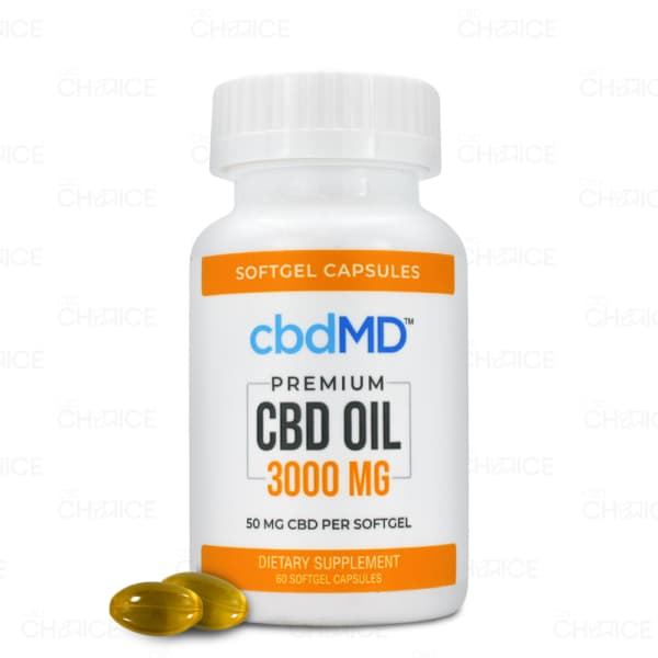 cbdMD Softgel Capsules, 60 count 3000mg