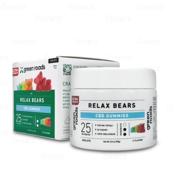 Green Roads Relax Bears 30 count 750mg