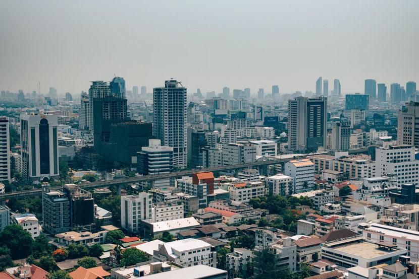 The skyline of Bangkok, capital of Thailand