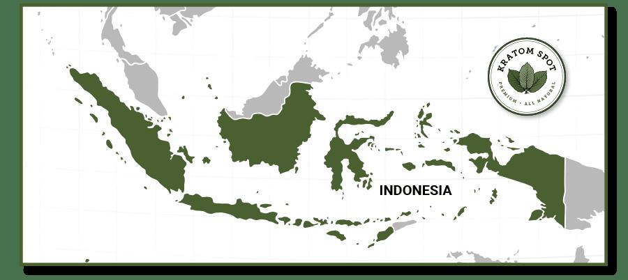 Kratom Map of Indonesia