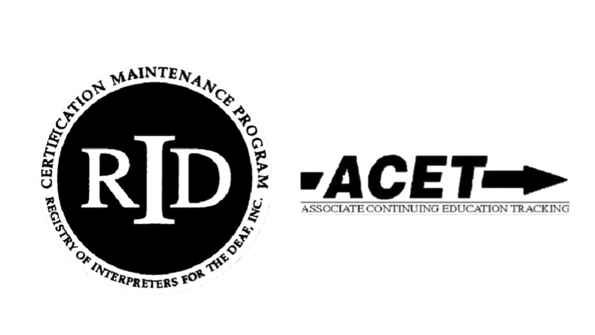 RID and ACET Logos