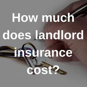 how much does landlord insurance cost