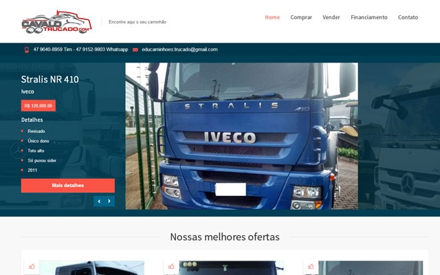 Website Cavalo Trucado