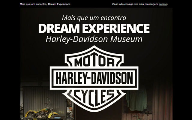Newsletter Must Travel - Harley-Davidson Dream Experience