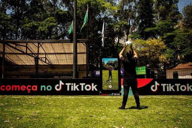 TikTok cria painel para jogador comemorar gol na Copa do Brasil