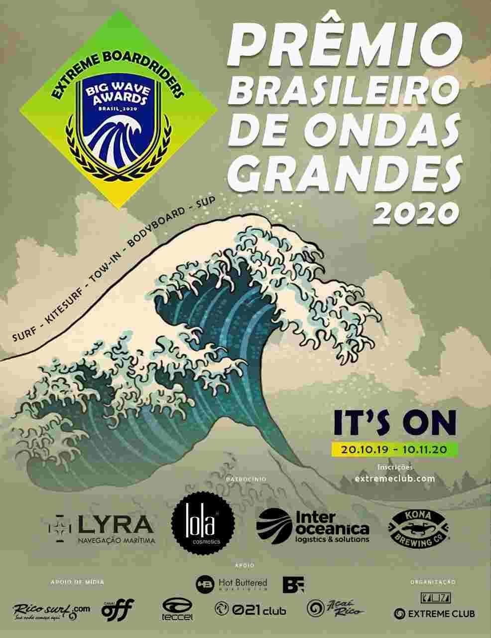 Prêmio mostra as maiores e mais impressionantes ondas do país