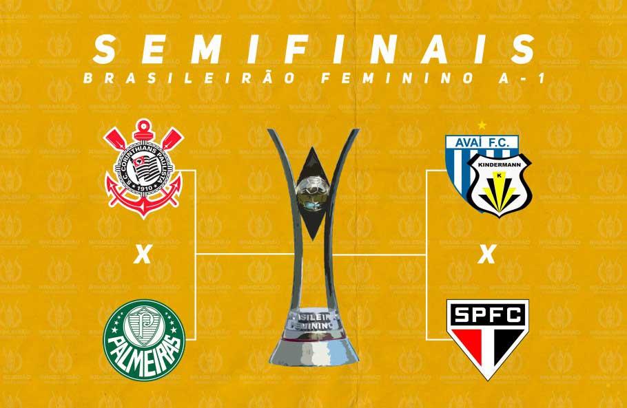 CBF anunciou as datas e horários das semifinais do Brasileirão Feminino nesta quarta-feira (4)