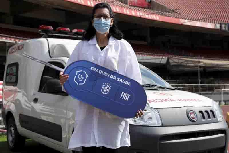 Com Fiat, CBF doa ambulâncias a 27 estados